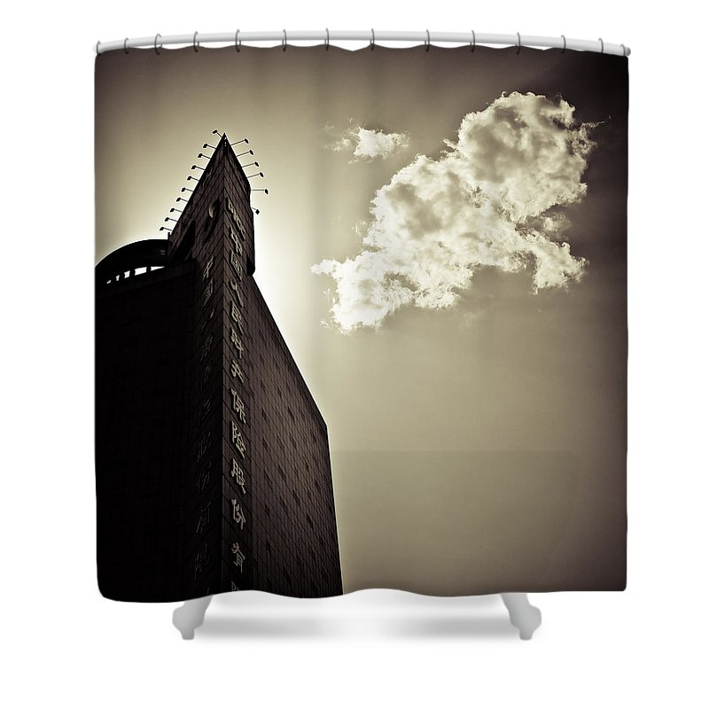 Beijing Shower Curtain featuring the photograph Beijing Cloud by Dave Bowman