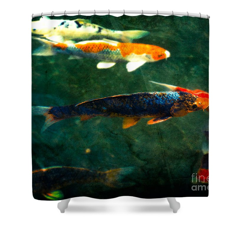 Being koi shower curtain for sale by sonja quintero for Koi fish bathroom decorations