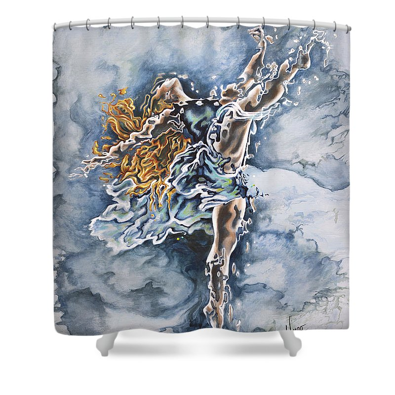 Ice Dancing Shower Curtains