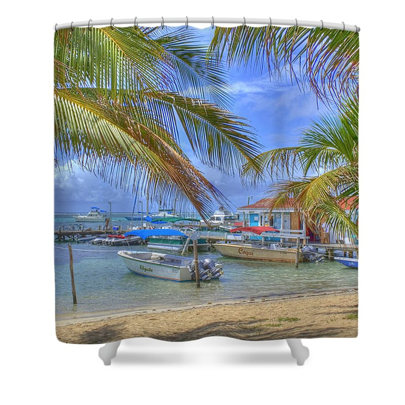 Belize Shower Curtain featuring the photograph Belize Hdr by Debby Richards