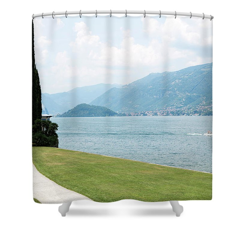 Tranquility Shower Curtain featuring the photograph Bellagio, Lake Como, Lombardy, Italy by Tim E White
