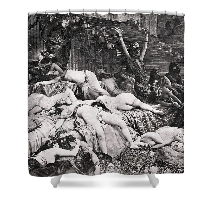 Ancient Shower Curtain featuring the photograph Belshazzars Feast by Granger