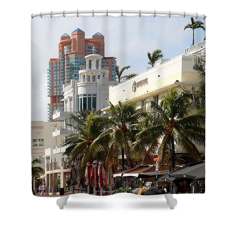 Bentley Hotel Shower Curtain featuring the photograph Bentley Hotel Miami by Christiane Schulze Art And Photography