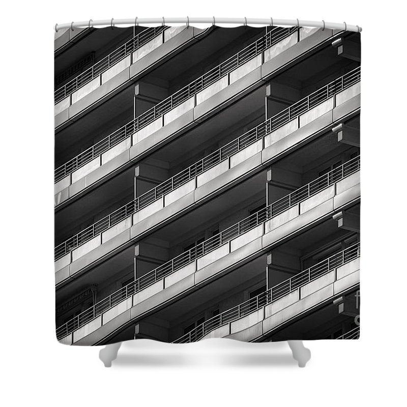 Berlin Shower Curtain featuring the photograph Berlin Balconies by Rod McLean