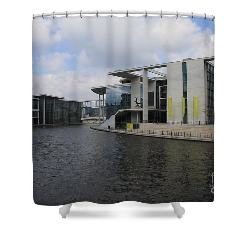 Government Building Shower Curtain featuring the photograph Berlin Government Building by Christiane Schulze Art And Photography