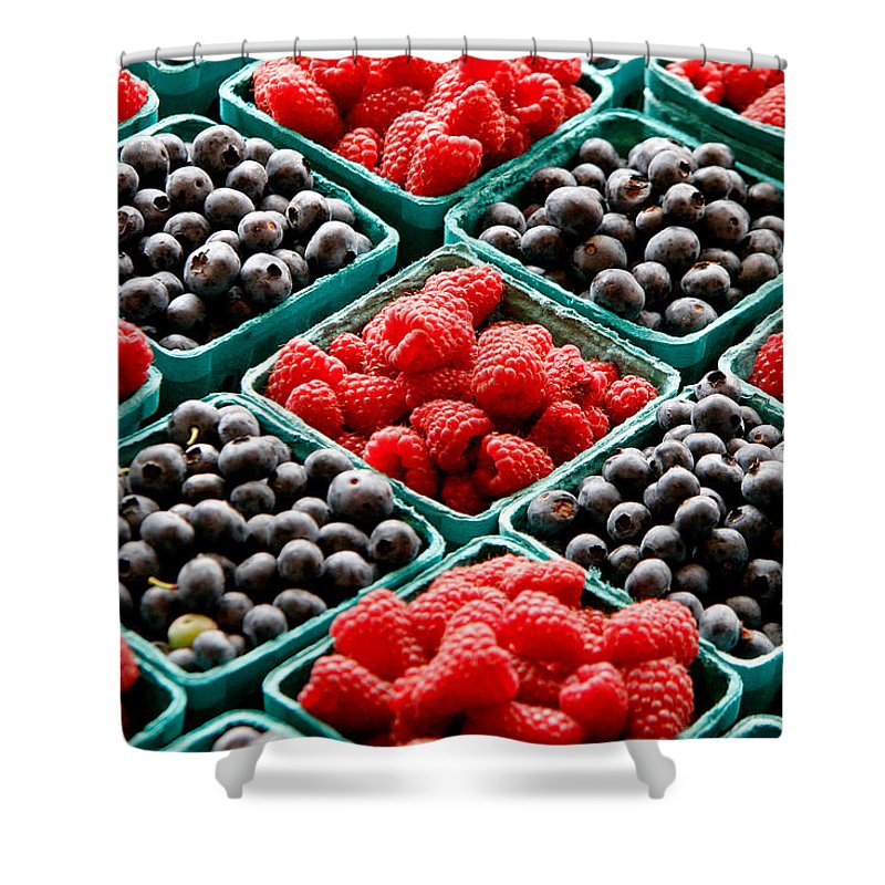 Berries Shower Curtain featuring the photograph Berry Berry Nice by Peter Tellone