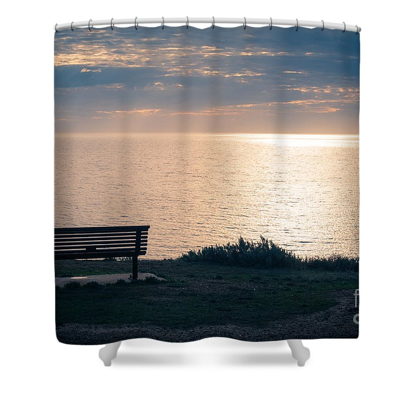 Seat Shower Curtain featuring the photograph Best Seat In The House by Ray Warren