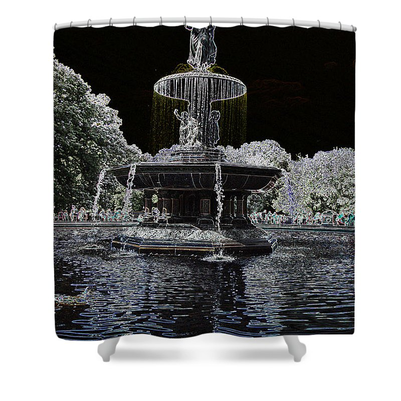 Bethesda Fountain Shower Curtain featuring the photograph Bethesda Fountain Abstract by Christiane Schulze Art And Photography