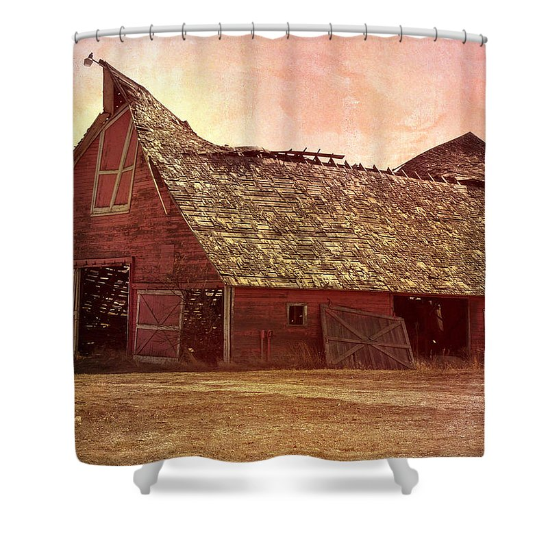 Barn Shower Curtain featuring the photograph Better Days by Image Takers Photography LLC - Carol haddon