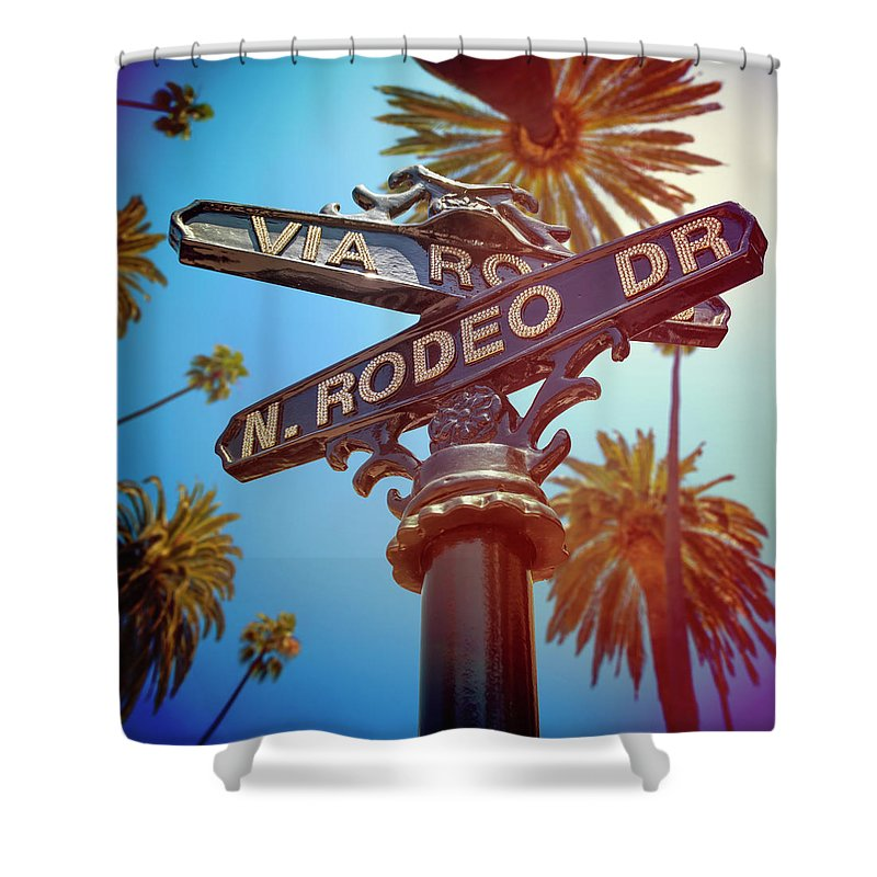 Beverly Hills Shower Curtain featuring the photograph Beverly Hills California by Lpettet