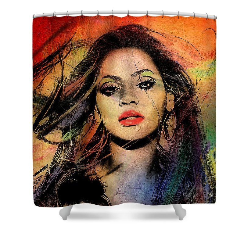 Beyonce Shower Curtain For Sale By Mark Ashkenazi