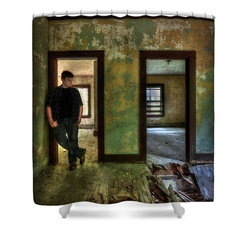 Abandon Shower Curtain featuring the photograph Beyond Regrets Of The Past by Evelina Kremsdorf