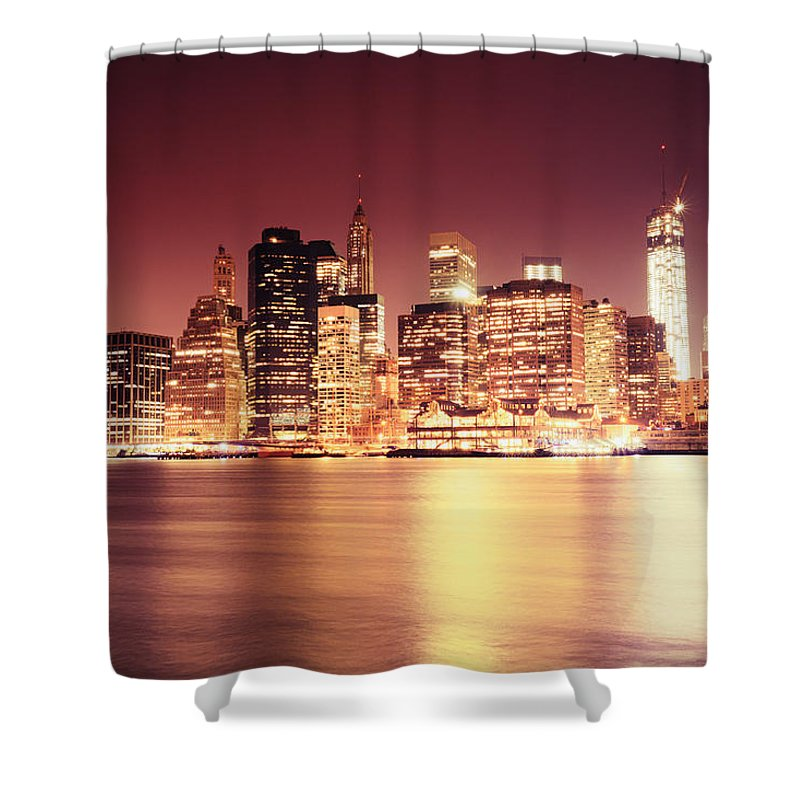 Nyc Shower Curtain Featuring The Photograph Big Apple
