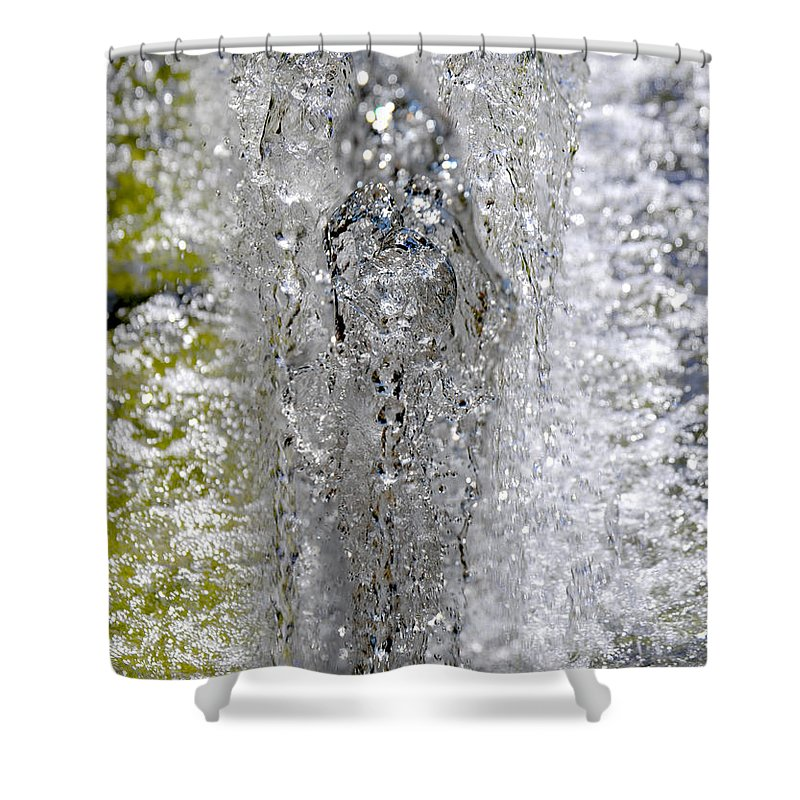 Water Molding. Shower Curtain featuring the digital art Big Chill Water Angel by Dana Haynes