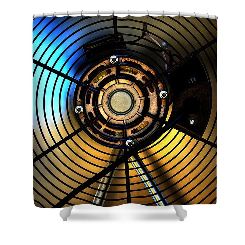 Newel Hunter Shower Curtain featuring the photograph Big Fan by Newel Hunter