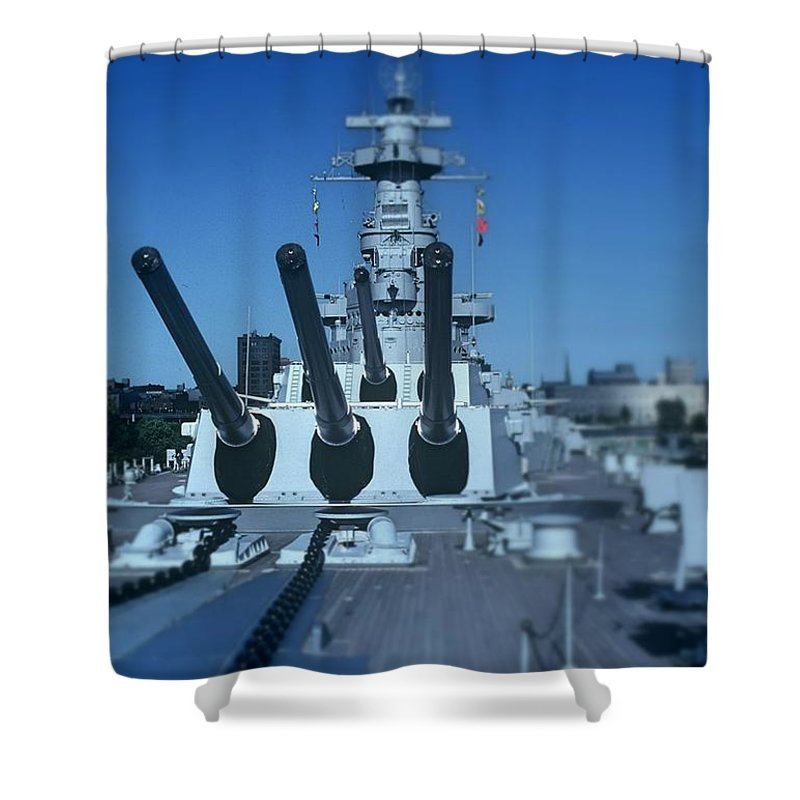 Fine Art Shower Curtain featuring the photograph Big Guns by Rodney Lee Williams