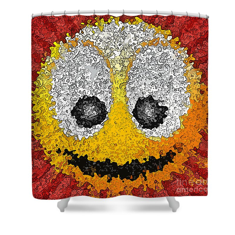 Smile Shower Curtain featuring the digital art Big Happy Smile by Phil Perkins