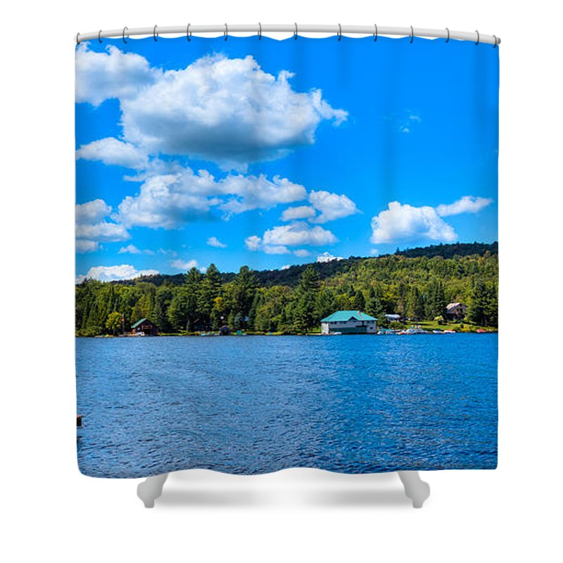 Big Moose Lake Shower Curtain featuring the photograph Big Moose Lake In The Adirondacks by David Patterson