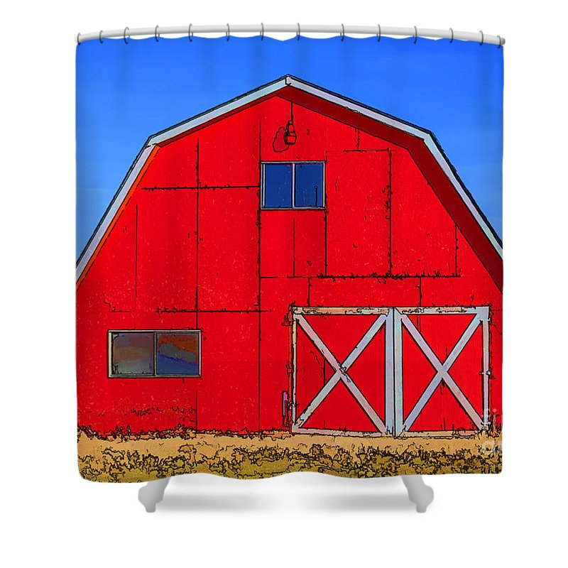 Barn Shower Curtain featuring the photograph Big Red Barn by Janice Pariza