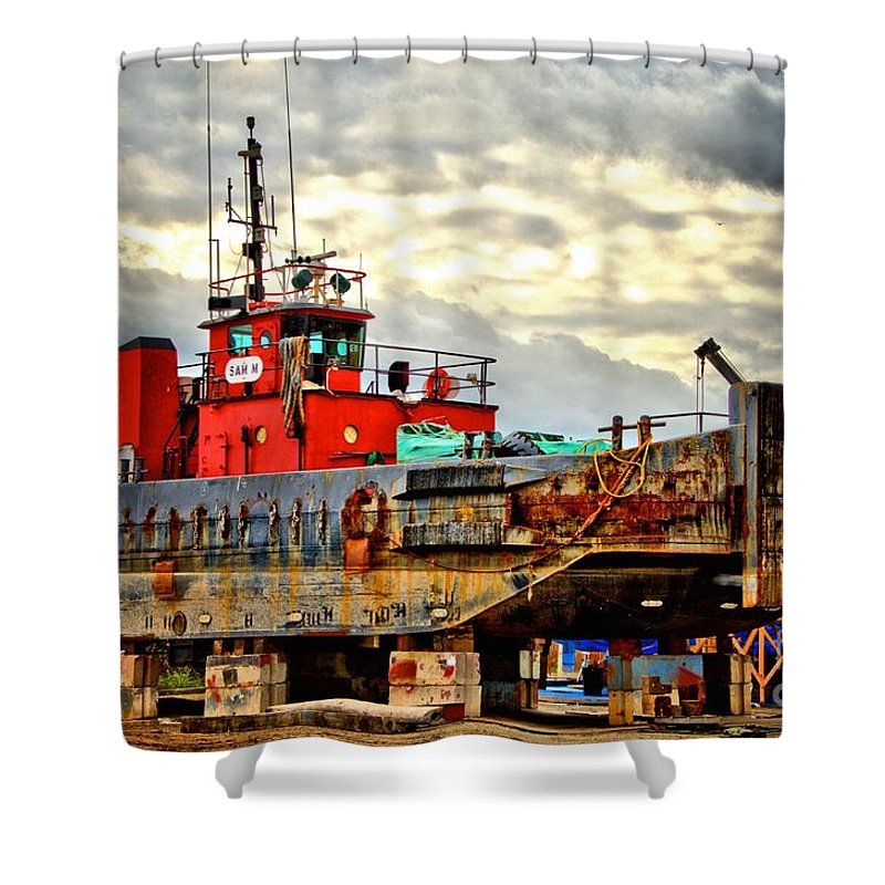 Abstract Shower Curtain featuring the photograph Big Ship Rising by Lauren Leigh Hunter Fine Art Photography