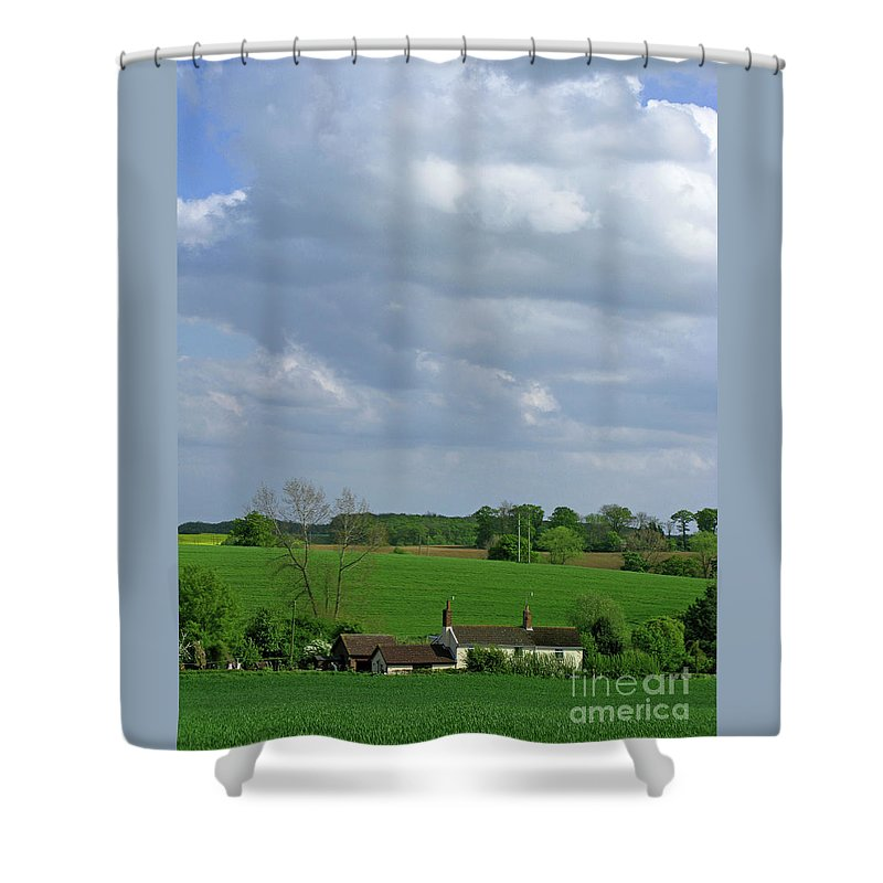 Sky Shower Curtain featuring the photograph Big Suffolk Sky by Ann Horn