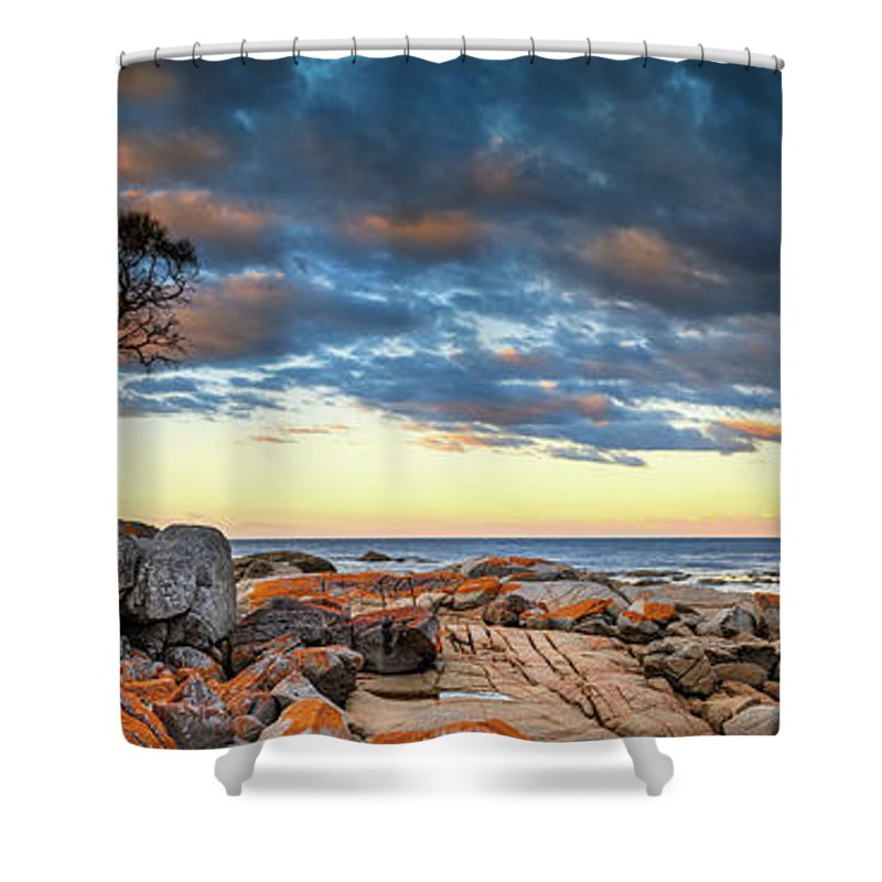 Scenics Shower Curtain featuring the photograph Binalong Bay by Bruce Hood