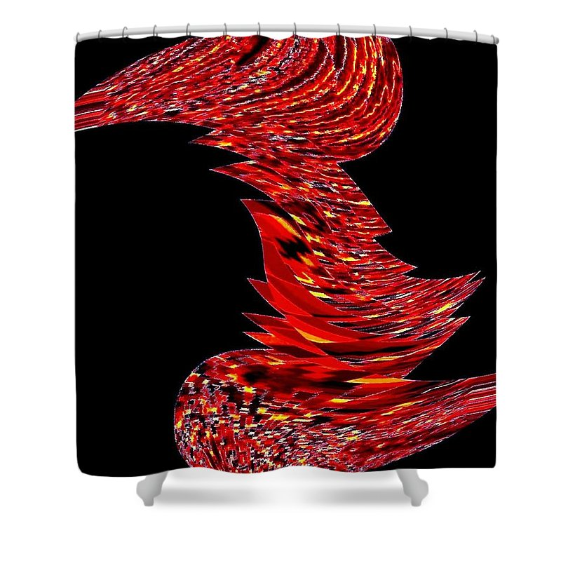 Abstract Shower Curtain featuring the digital art Birds Of A Feather 2 by Will Borden