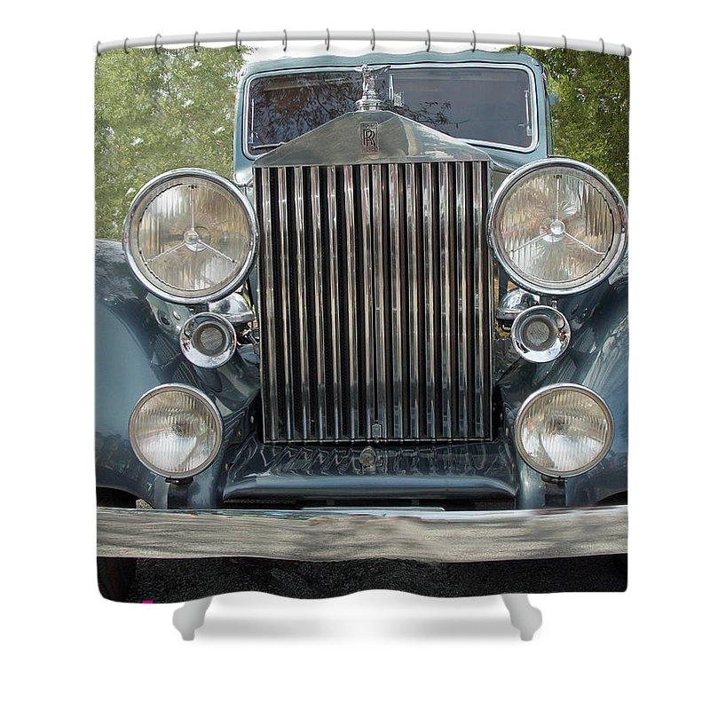 Rolls-royce Shower Curtain featuring the photograph Birthday Rolls-royce by Bob Johnson