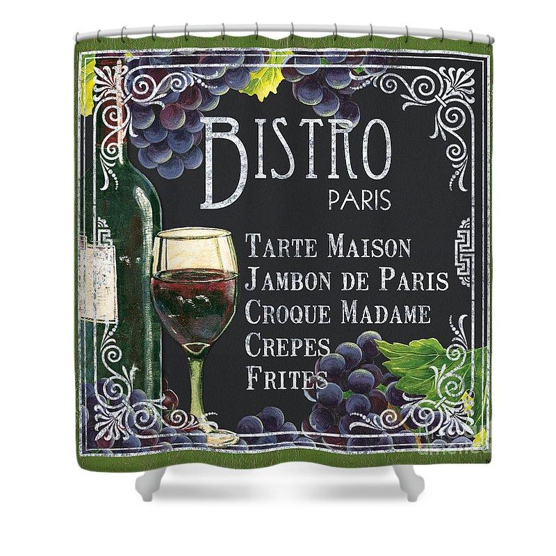 Bistro Shower Curtain featuring the painting Bistro Paris by Debbie DeWitt