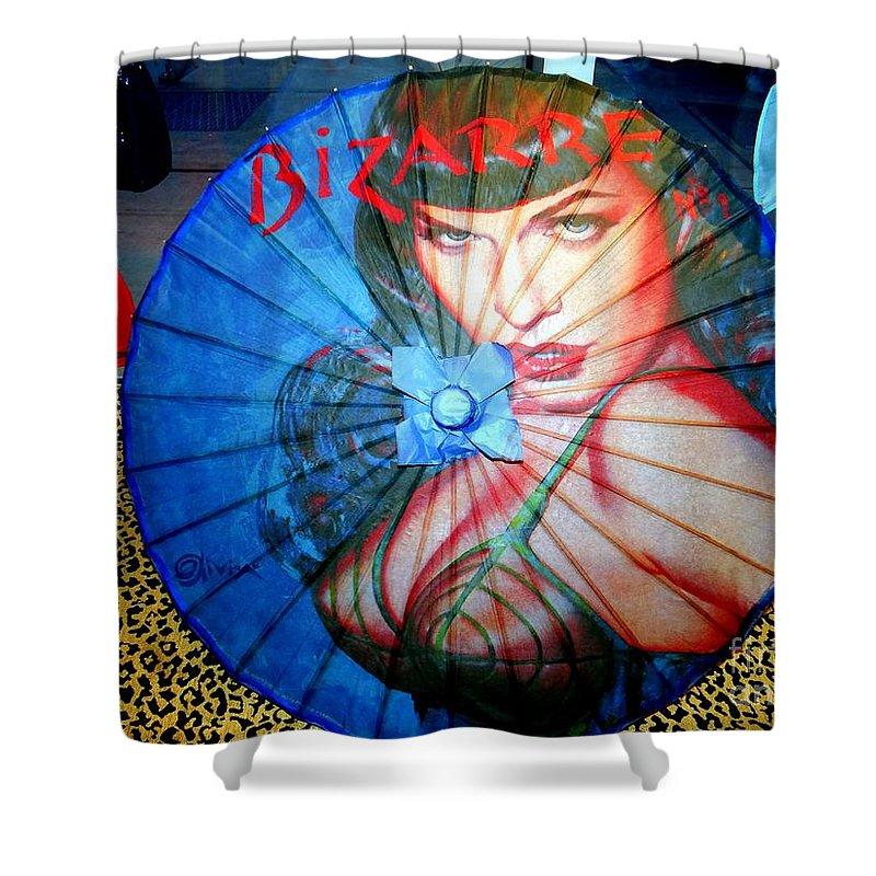 Parasol Shower Curtain featuring the photograph Bizarre Bettie by Ed Weidman