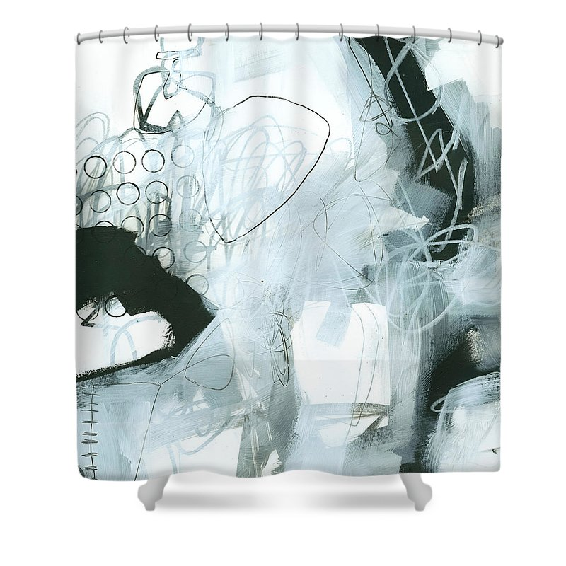 Acrylic Shower Curtain featuring the painting Black And White #1 by Jane Davies