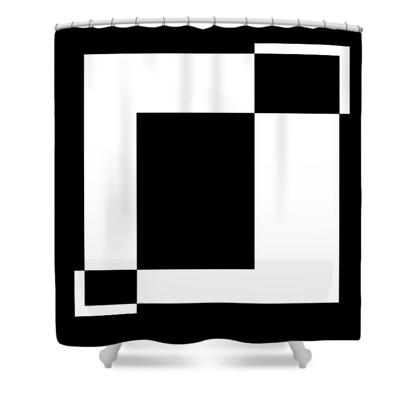 Black And White Shower Curtain featuring the digital art Black And White Art - 128 by Ely Arsha
