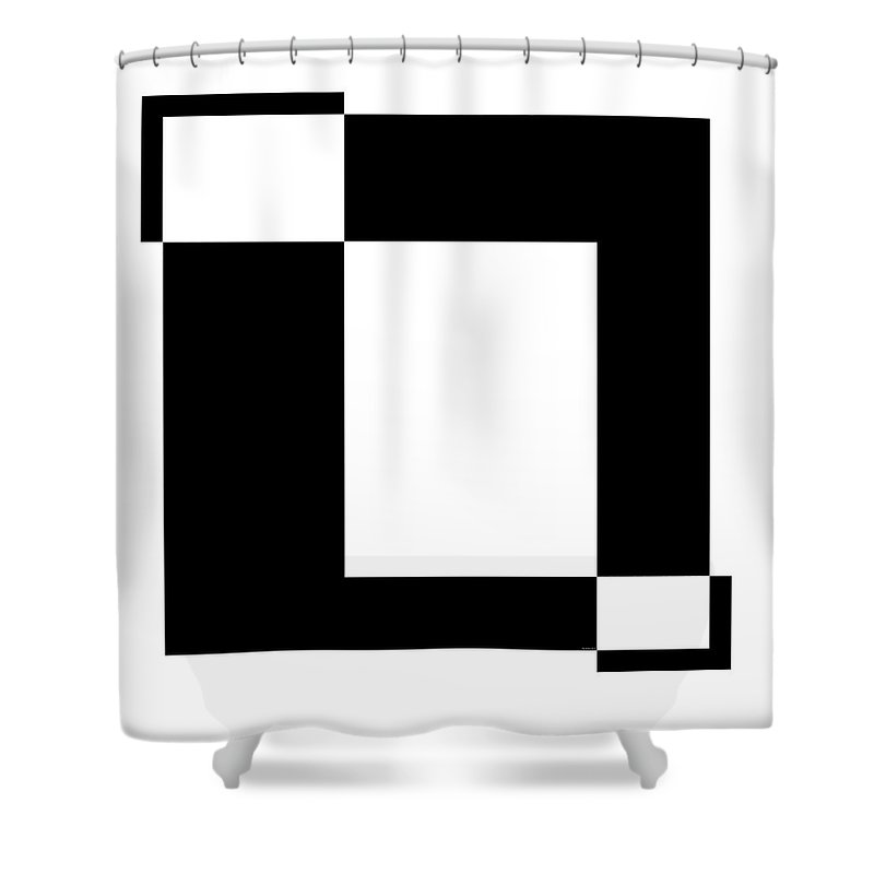 Black And White Shower Curtain featuring the digital art Black And White Art - 129 by Ely Arsha