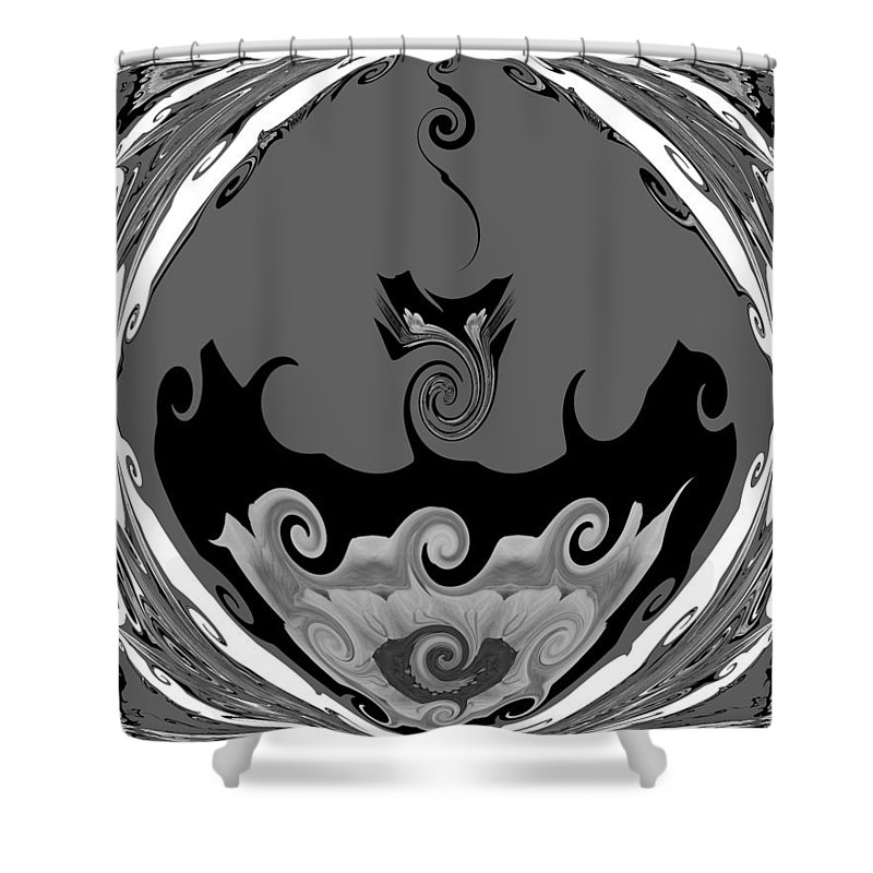 Abstract Shower Curtain featuring the photograph Black And White Explosion by TN Fairey