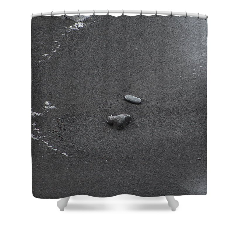 Hawaii Shower Curtain featuring the photograph Black Sand by Kevin Willms