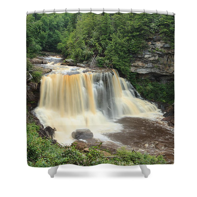 Landscape Shower Curtain featuring the photograph Blackwater River Falls West Virginia by Carol VanDyke