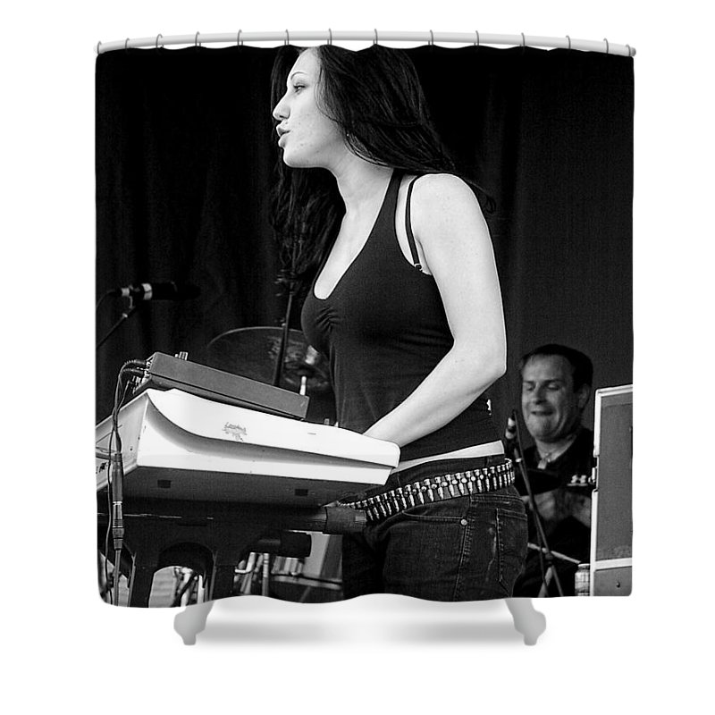 Punk Shower Curtain featuring the photograph Bleeding Through's Marta Peterson by Mike Martin