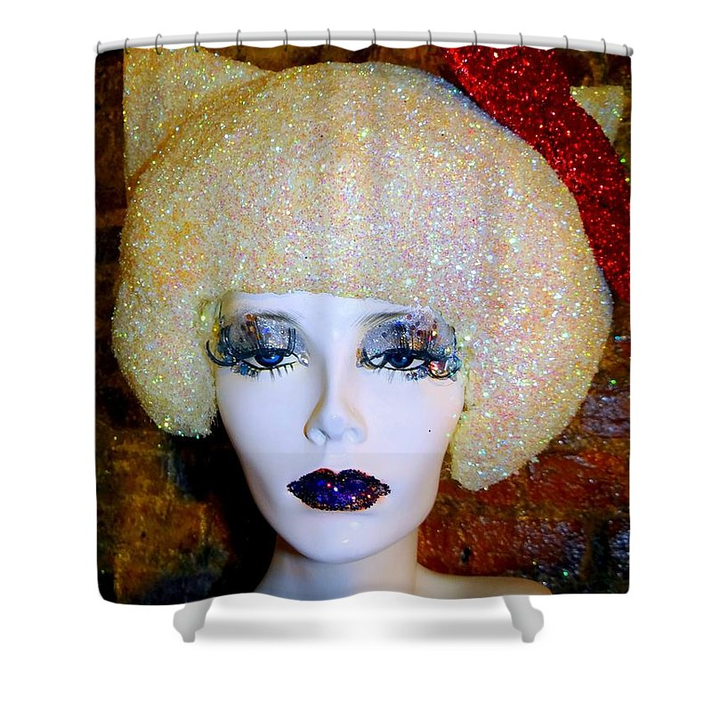 Mannequins Shower Curtain featuring the photograph Blonde Fro by Ed Weidman