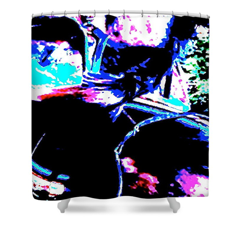 Abstract Shower Curtain featuring the photograph Bloodthirsty by Jeff Gater