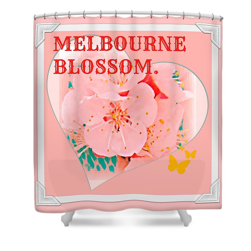 Melbourne Shower Curtain featuring the digital art Blossom In Melbourne by Meiers Daniel