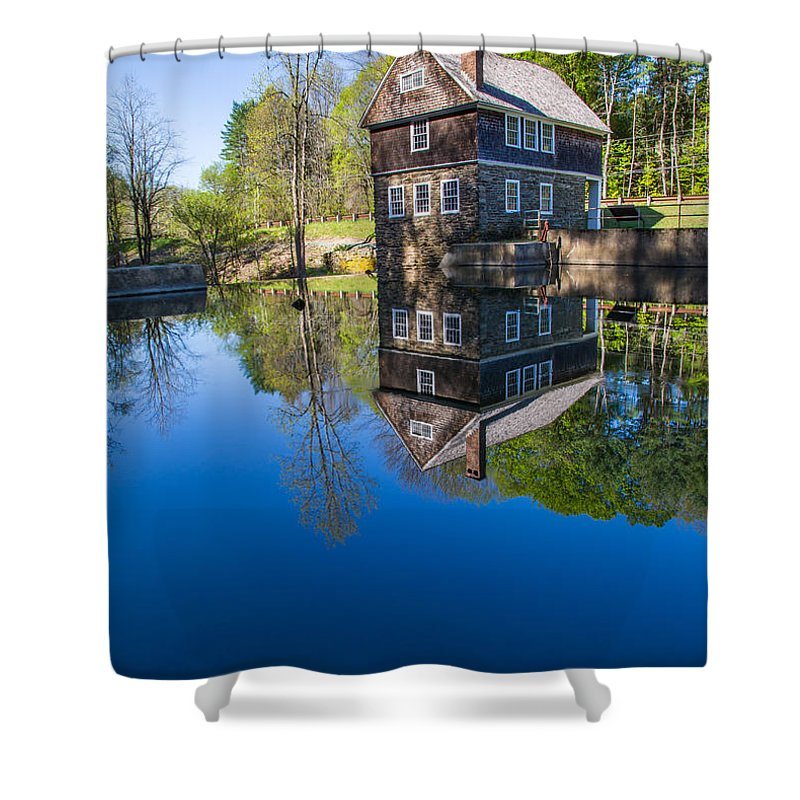 Cornish Shower Curtain featuring the photograph Blow Me Down Mill Cornish New Hampshire by Edward Fielding