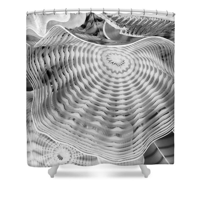Blown Glass Infrared Shower Curtain featuring the photograph Blown Glass Infrared by Dan Sproul