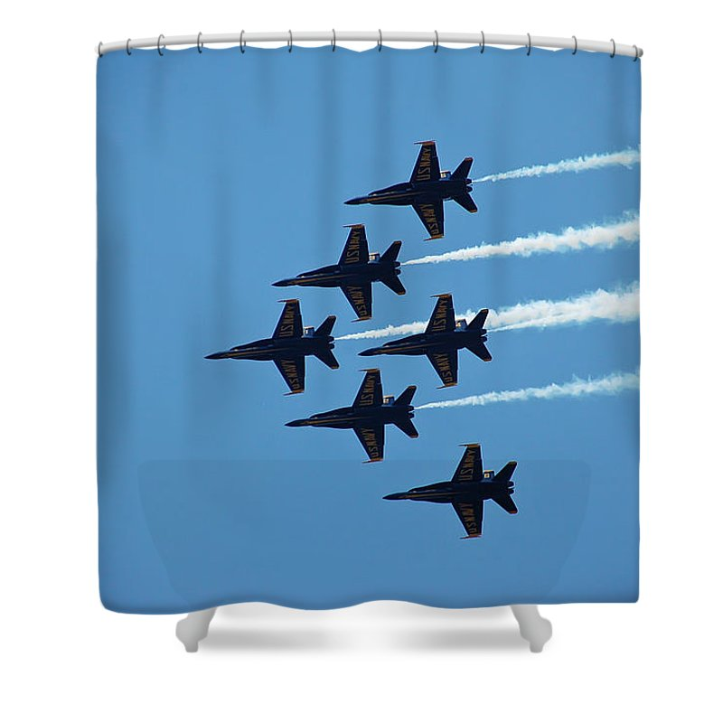Dare Shower Curtain featuring the photograph Blue Angels 4 by Aimee L Maher ALM GALLERY
