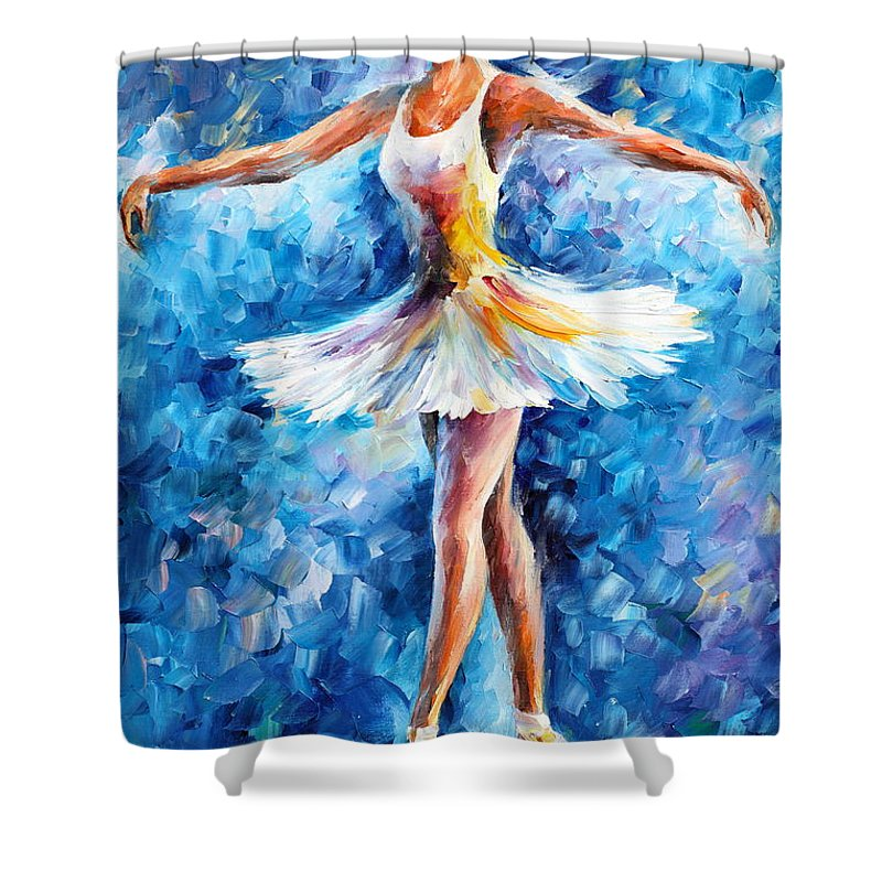 Blue Dance Shower Curtain For Sale By Leonid Afremov