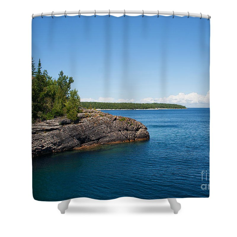 Georgian Bay Shower Curtain featuring the photograph Blue Heaven by Barbara McMahon