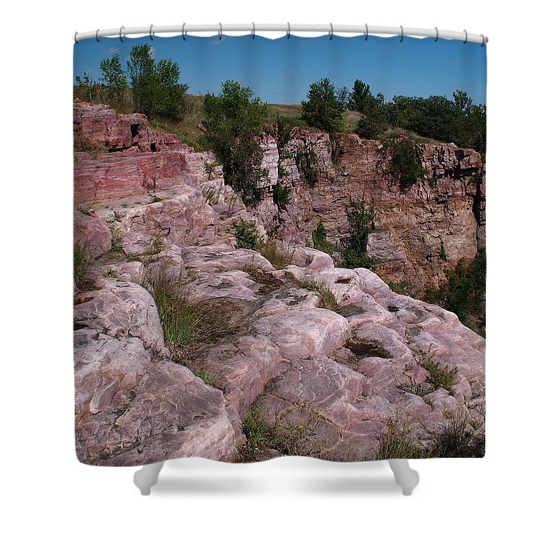 Jim Shower Curtain featuring the photograph Blue Mounds Quarry by James Peterson