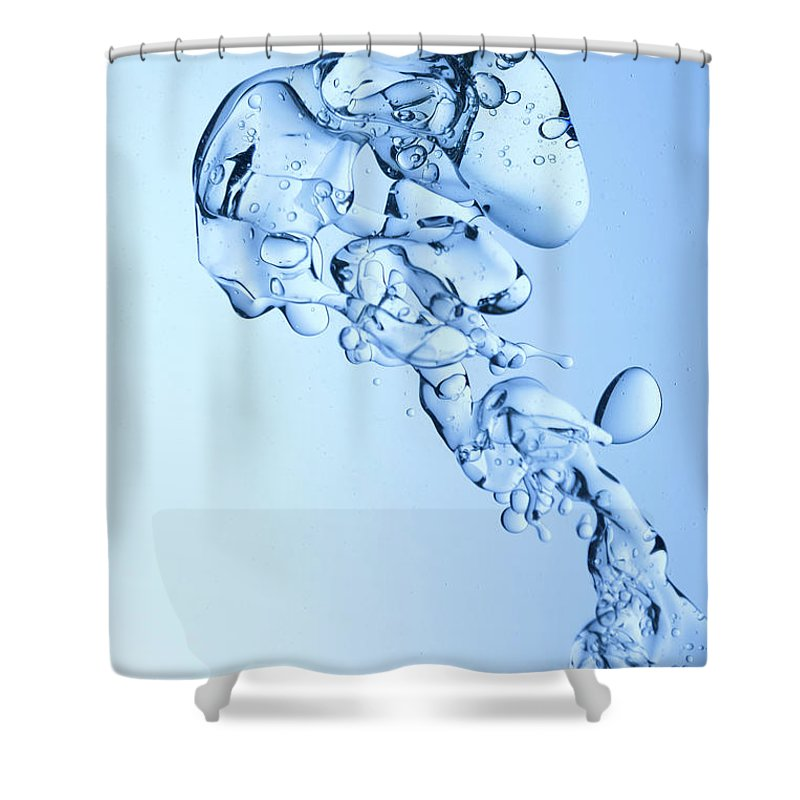 Yellow Shower Curtain featuring the photograph Blue Oil Water Background by Grafissimo