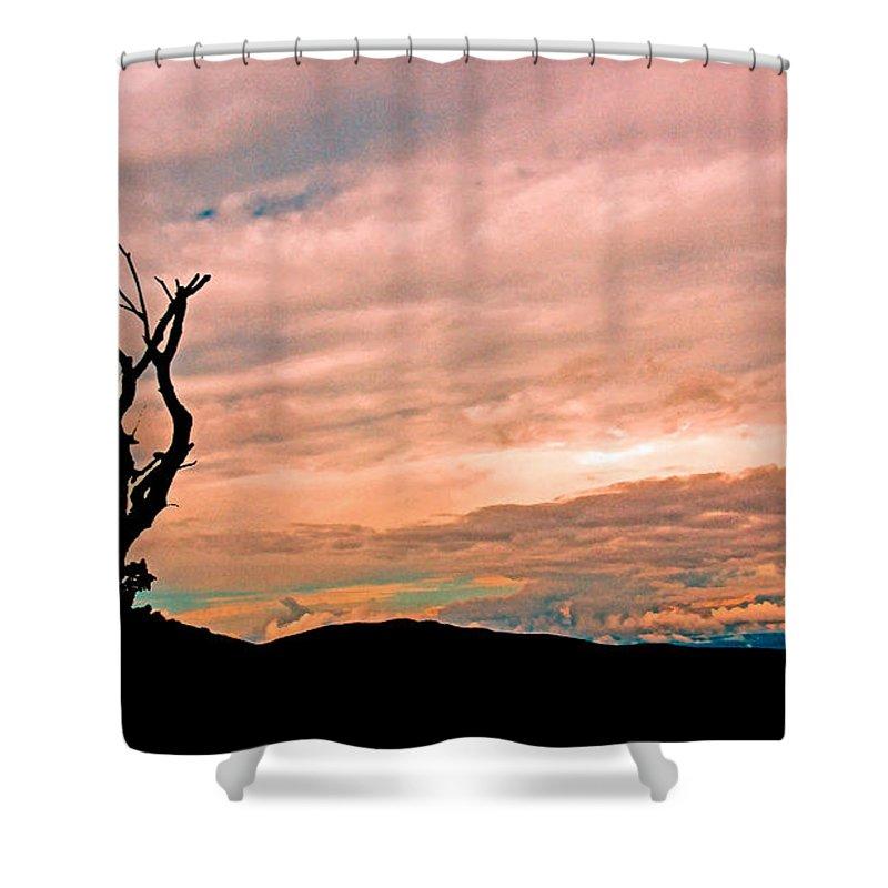 Panoramic Shower Curtain featuring the photograph Blue Ridge Mountain Sunrise Panoramic by Tom Gari Gallery-Three-Photography