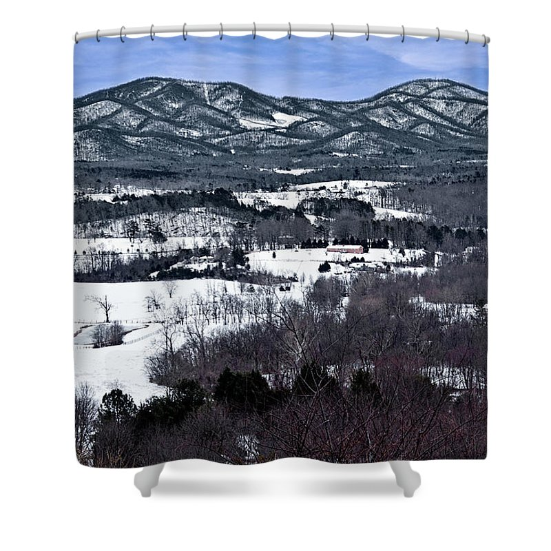 Blue Ridge Vista Shower Curtain featuring the photograph Blue Ridge Vista by Jemmy Archer
