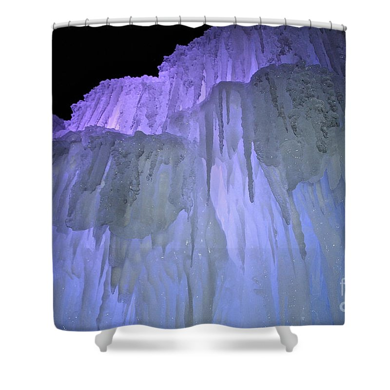 Ice Shower Curtain featuring the photograph Blue Violet Ice Mountain by Susan Herber